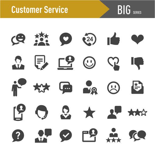 ikony obsługi klienta - big series - obsługa stock illustrations