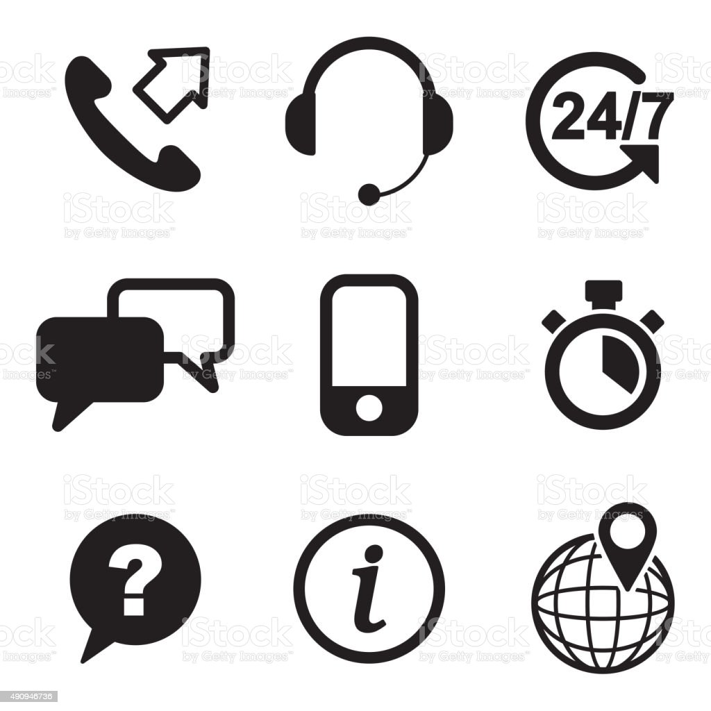 Customer Service Icons vector art illustration
