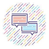 istock Customer Service Line Icon Illustration 1060193160