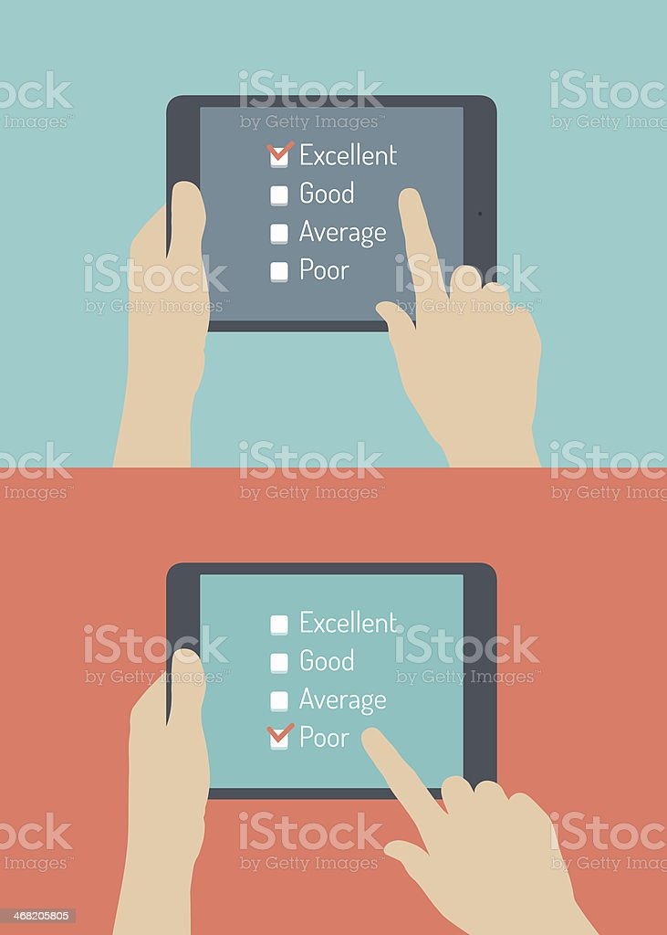 Customer service online feedback flat illustration royalty-free stock vector art