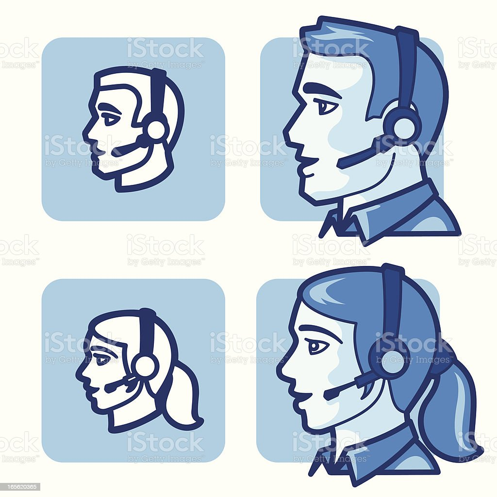 Customer Service People Icons royalty-free stock vector art