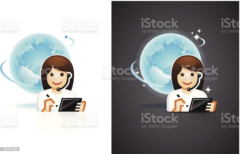 Customer Service Representative Symbol royalty-free customer service representative symbol stock vector art & more images of adult