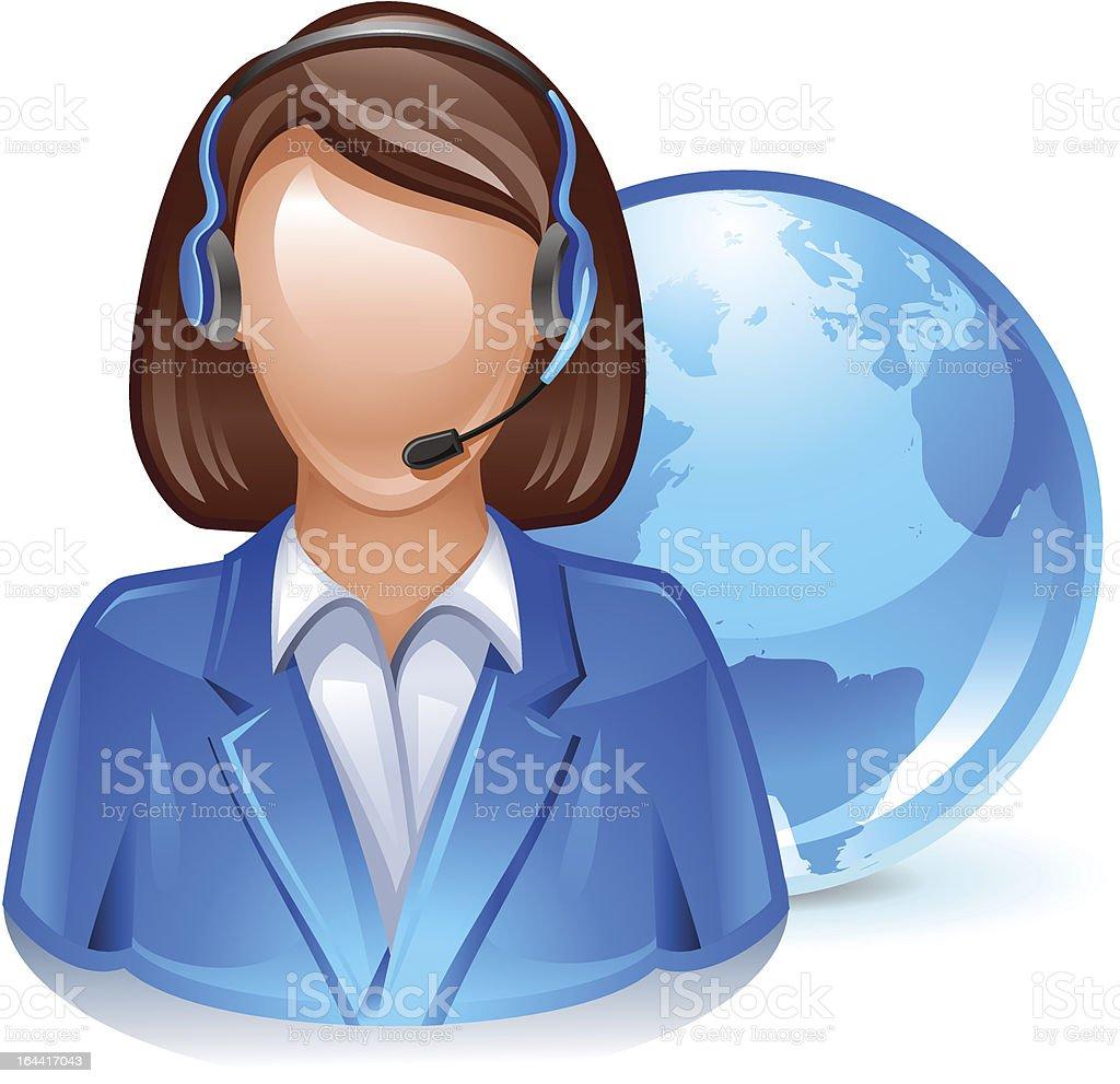 customer service representative royalty-free stock vector art