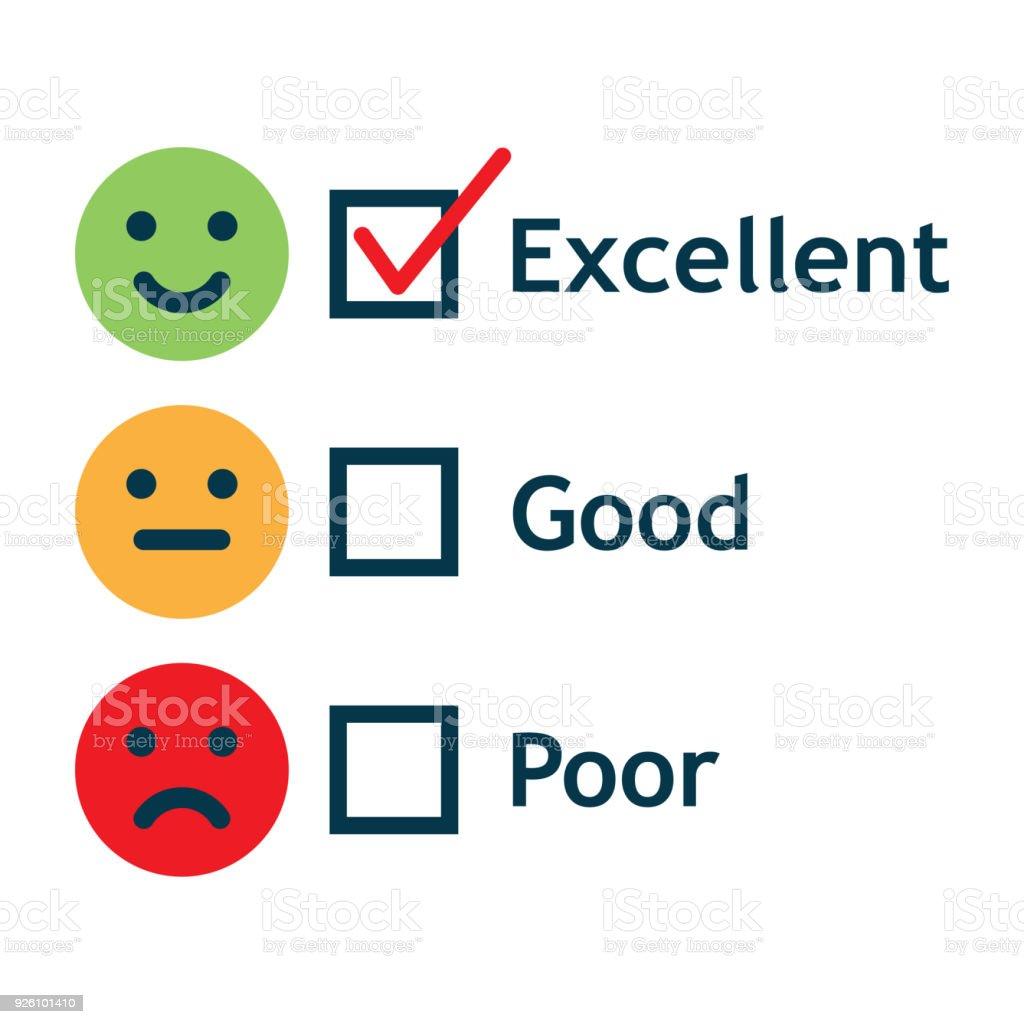Formulaire d'enquête Satisfaction client Service - Illustration vectorielle