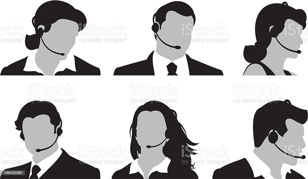 Customer Service Team vector art illustration