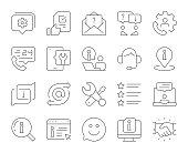 istock Customer Service - Thin Line Icons 1305609964