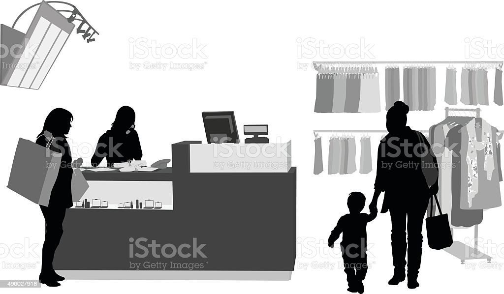 Customer Service vector art illustration