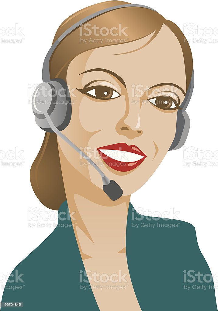 Customer Service royalty-free stock vector art
