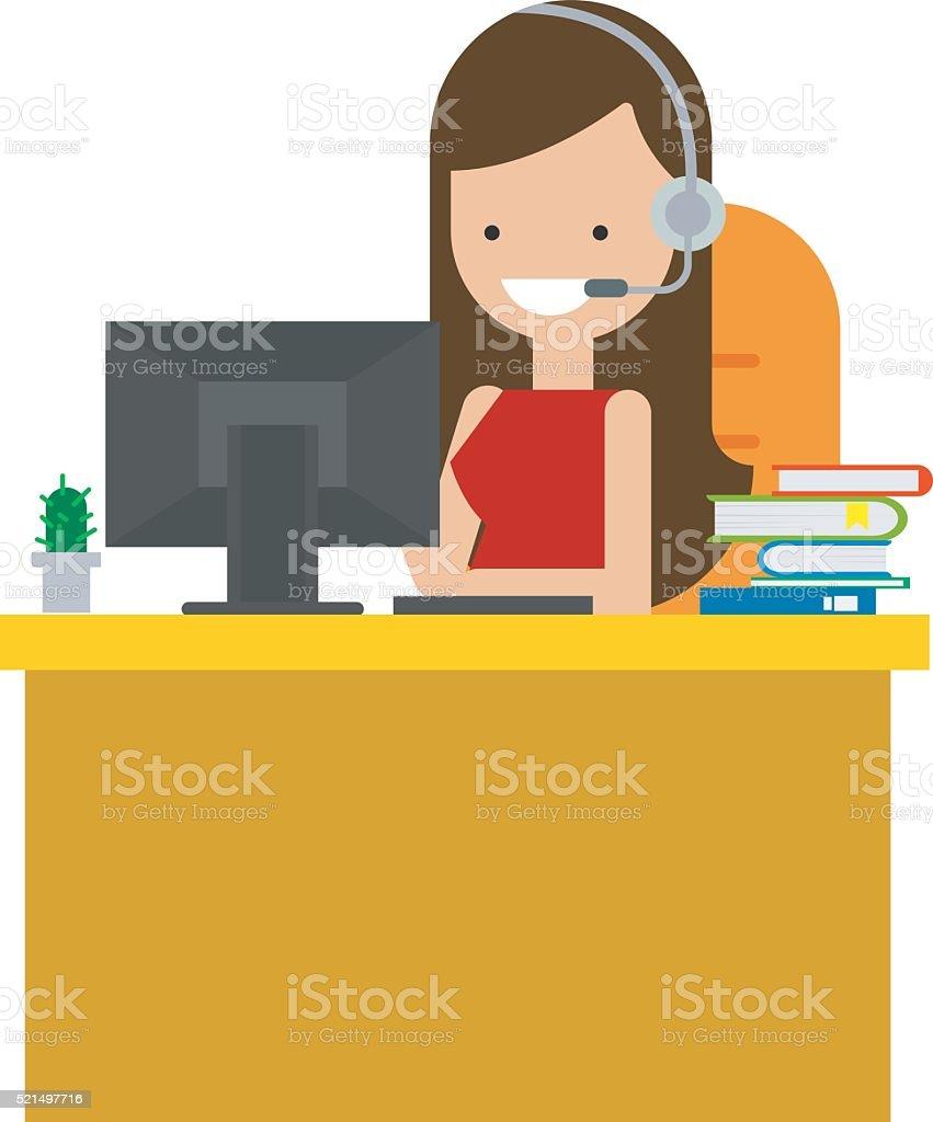 illustration vectorielle Service clientèle - Illustration vectorielle