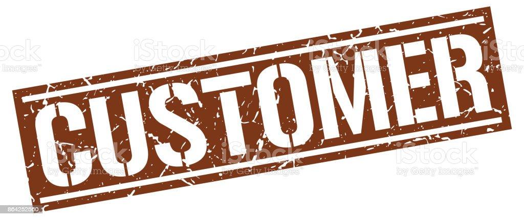 customer square grunge stamp royalty-free customer square grunge stamp stock vector art & more images of badge