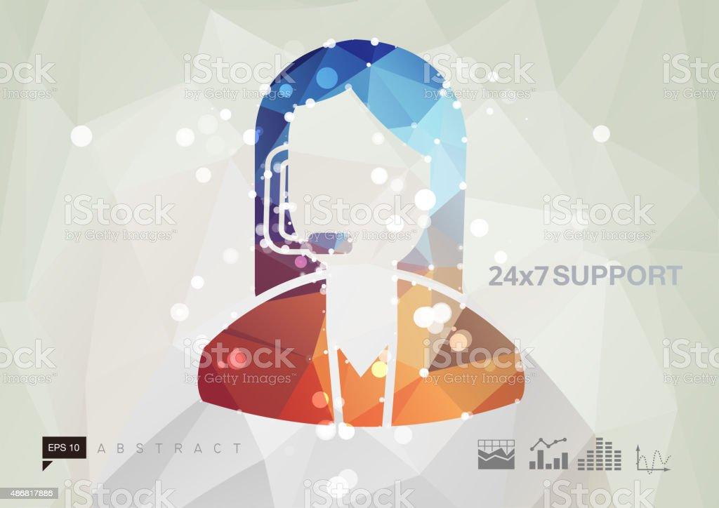 Customer Support Business Abstract vector art illustration