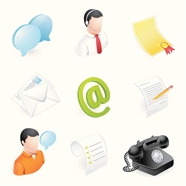 Assistance clientèle de 3D icônes-série - Illustration vectorielle