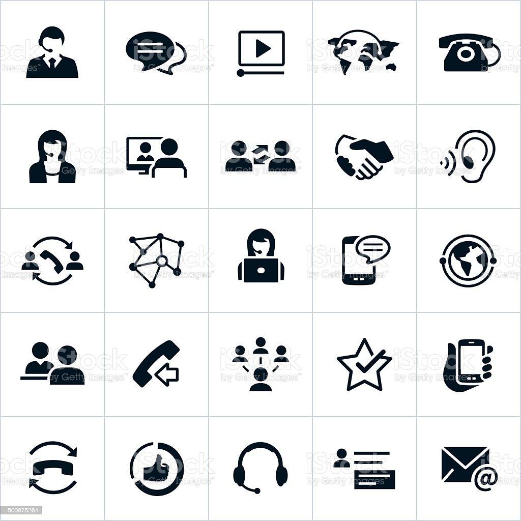 Iconos de servicio de asistencia al cliente - ilustración de arte vectorial