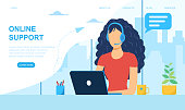 istock Customer support manager, online consultant 1276489167