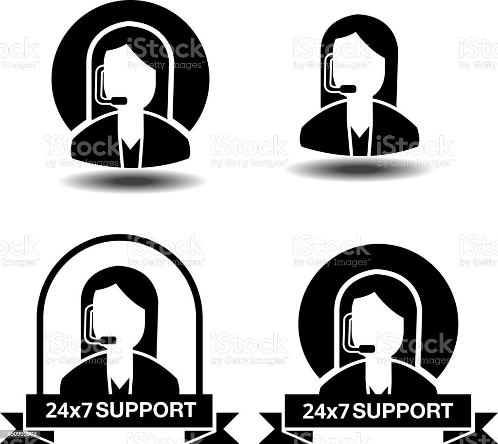 Customer Support royalty-free stock vector art