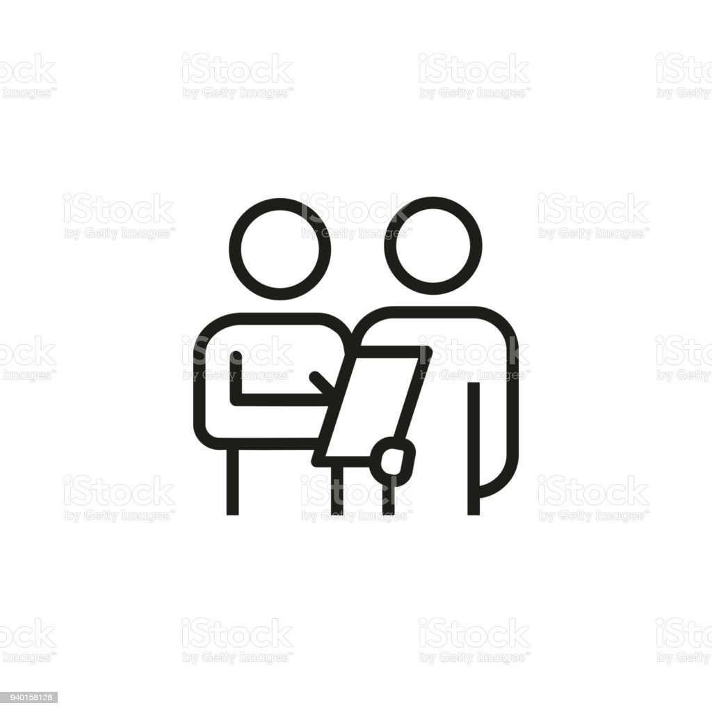 Customer survey icon vector art illustration