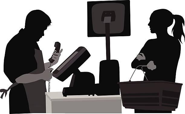 customercare - 小売販売員点のイラスト素材/クリップアート素材/マンガ素材/アイコン素材