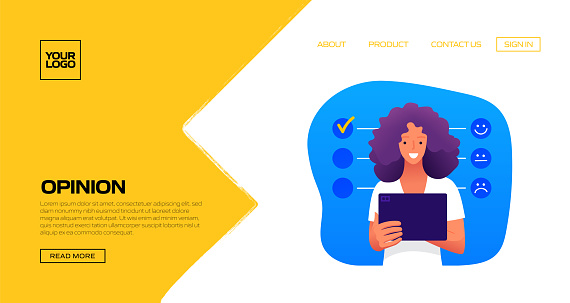 Customers Opinions Concept Vector Illustration for Landing Page Template, Website Banner, Advertisement and Marketing Material, Online Advertising, Business Presentation etc.