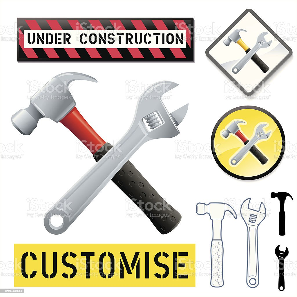 Customise Hammer and Wrench royalty-free customise hammer and wrench stock vector art & more images of accessibility