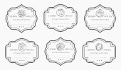 Customizable black and white Pantry label collection.