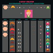 Customizable Characters avatars Collection