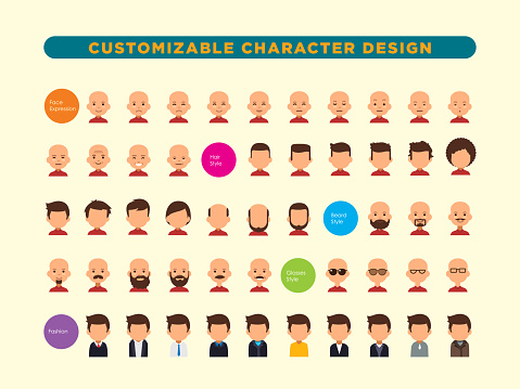 customizable human character  J