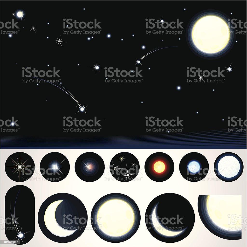 Customizable Night Sky royalty-free stock vector art