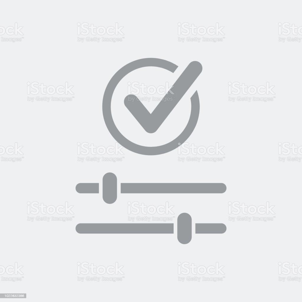 Customized levels setting check vector art illustration