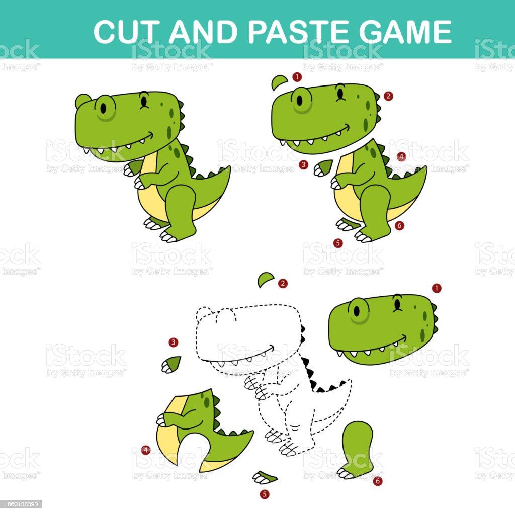 Ilustracion De Corte Y Ultimos Juegos De Juego Facil Papel Educativo