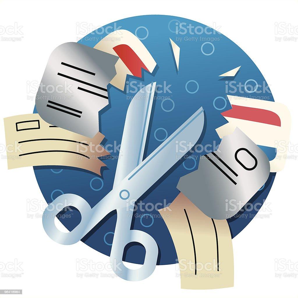 Cut Bills royalty-free stock vector art
