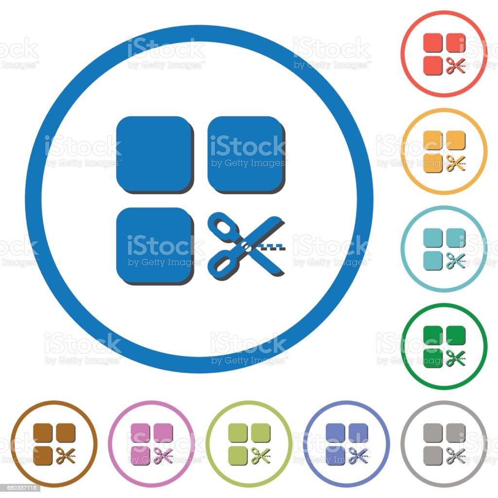 Cut component icons with shadows and outlines royalty free cut component icons with shadows and outlines stockvectorkunst en meer beelden van aan elkaar bevestigd