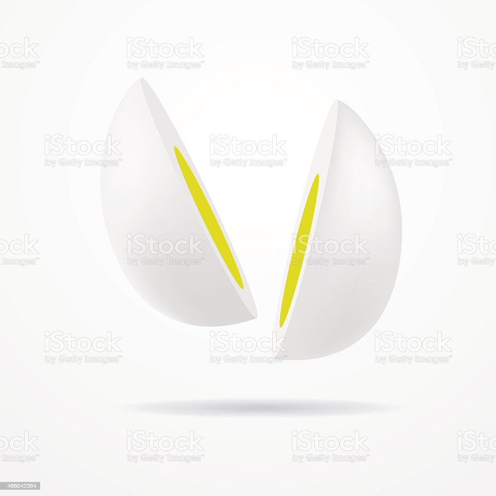 Cut egg vector art illustration