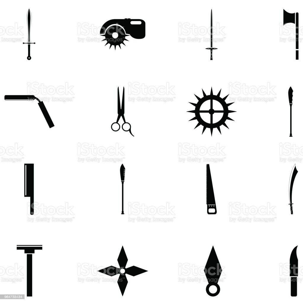 cut icon set royalty-free cut icon set stock vector art & more images of art