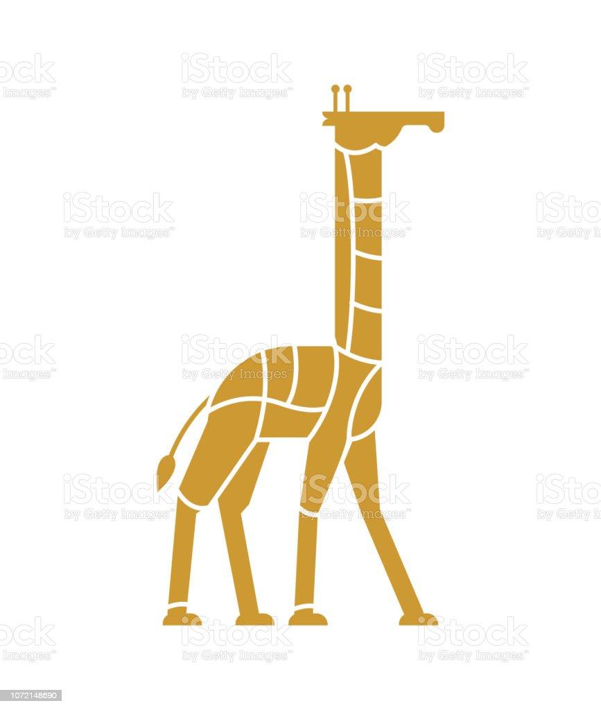 Coupe De Viande Girafe Camelopard Silhouette Schéma Des