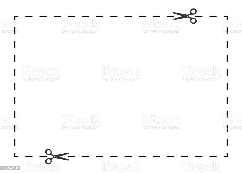 cut out coupon shape vector art illustration