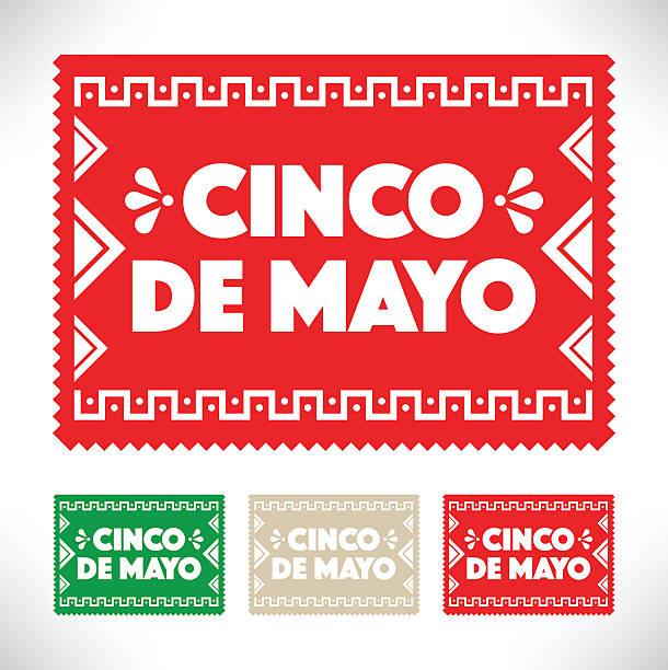 Freisteller Papier-Cinco De Mayo (5. Mai – Vektorgrafik