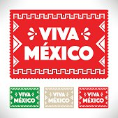 Mexican Holiday Decoration Vector.