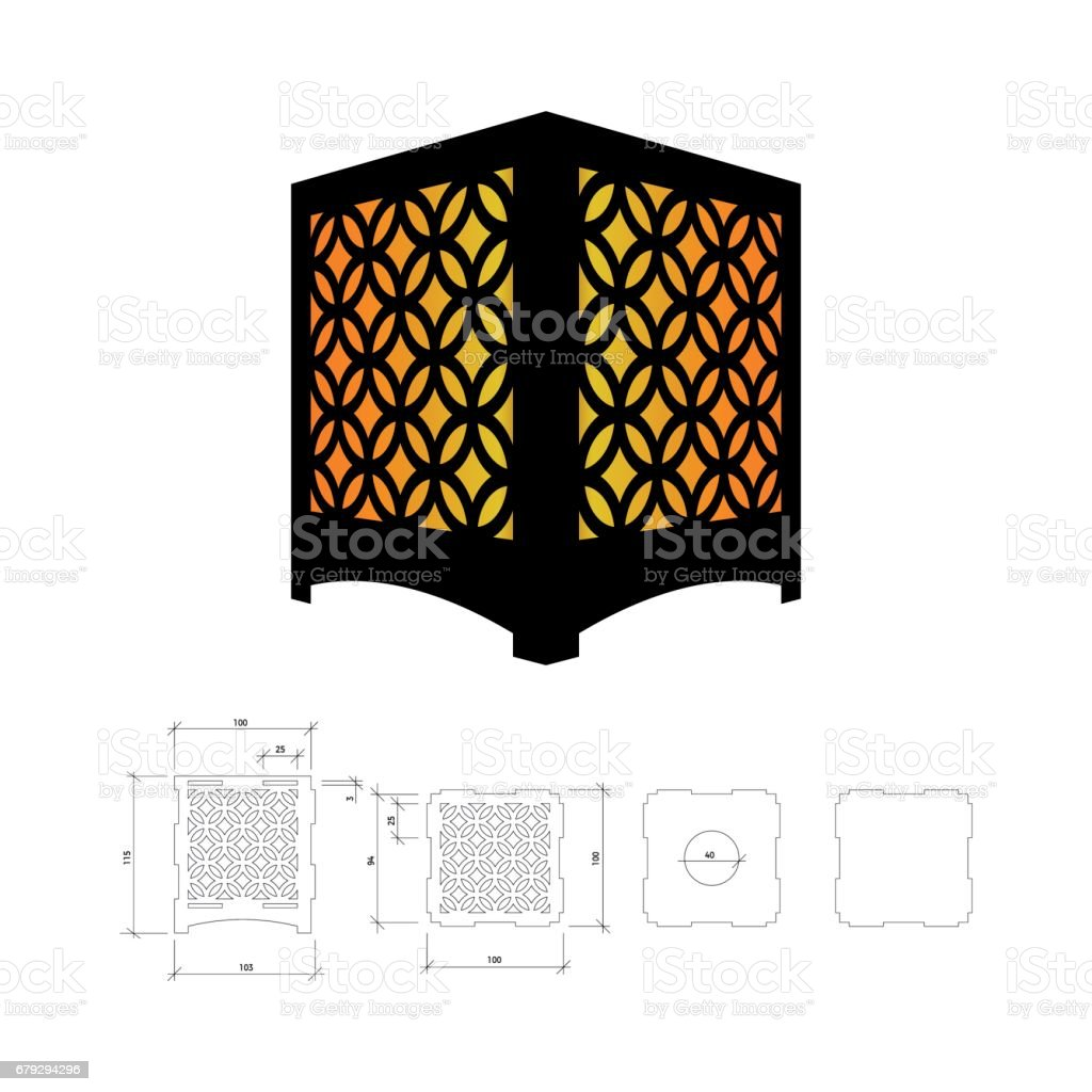 Cut out template for lamp royalty-free cut out template for lamp stock vector art & more images of arabic style