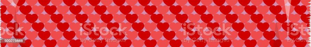 Bandrotes Herz Schnittmuster Stock Vektor Art und mehr Bilder von ...