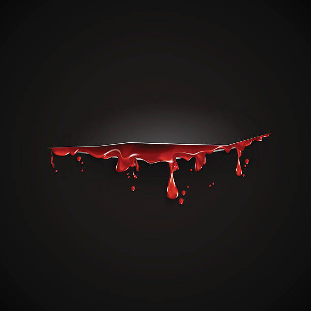 cut with th blood template. Black background cut with th blood template. Black background utility knife stock illustrations