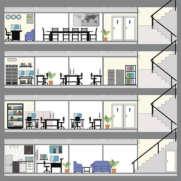 Cross Section Building on Clinic Design Floor Plan