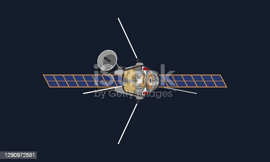 istock Cutaway view of a space probe traveling in space, capturing important scientific data. Internals with hardware and scientific component visible. 1290972551