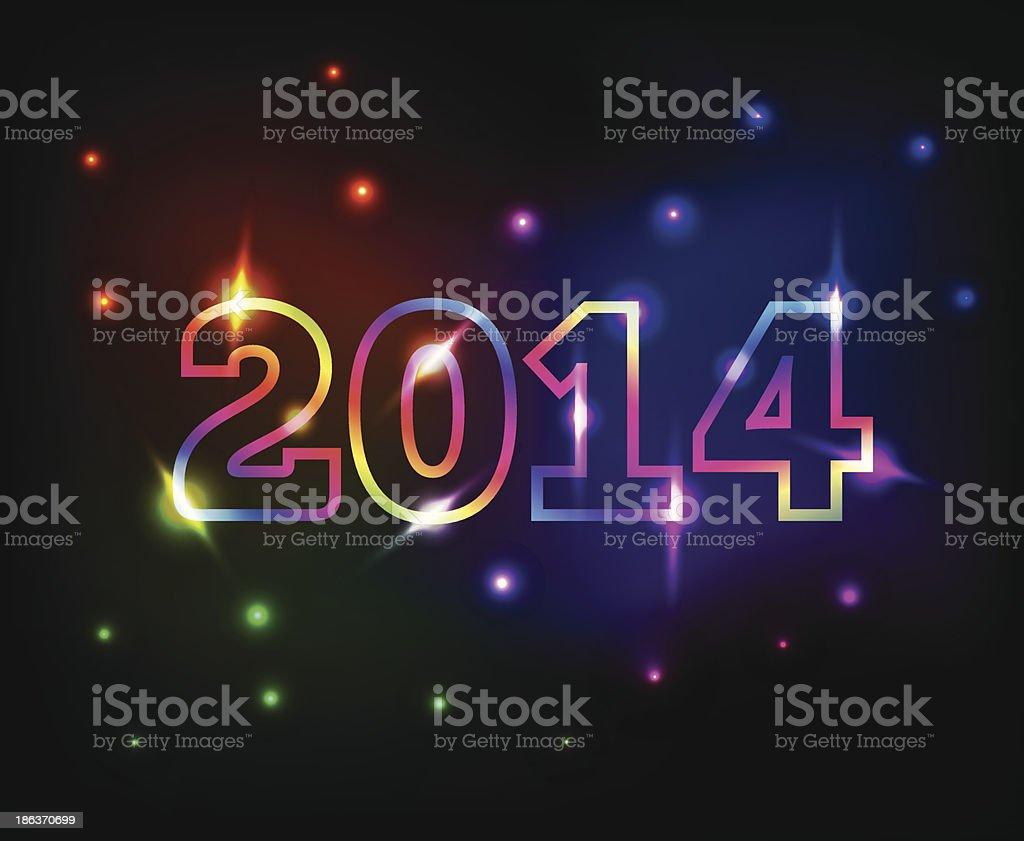cute 2014 numbers royalty-free stock vector art