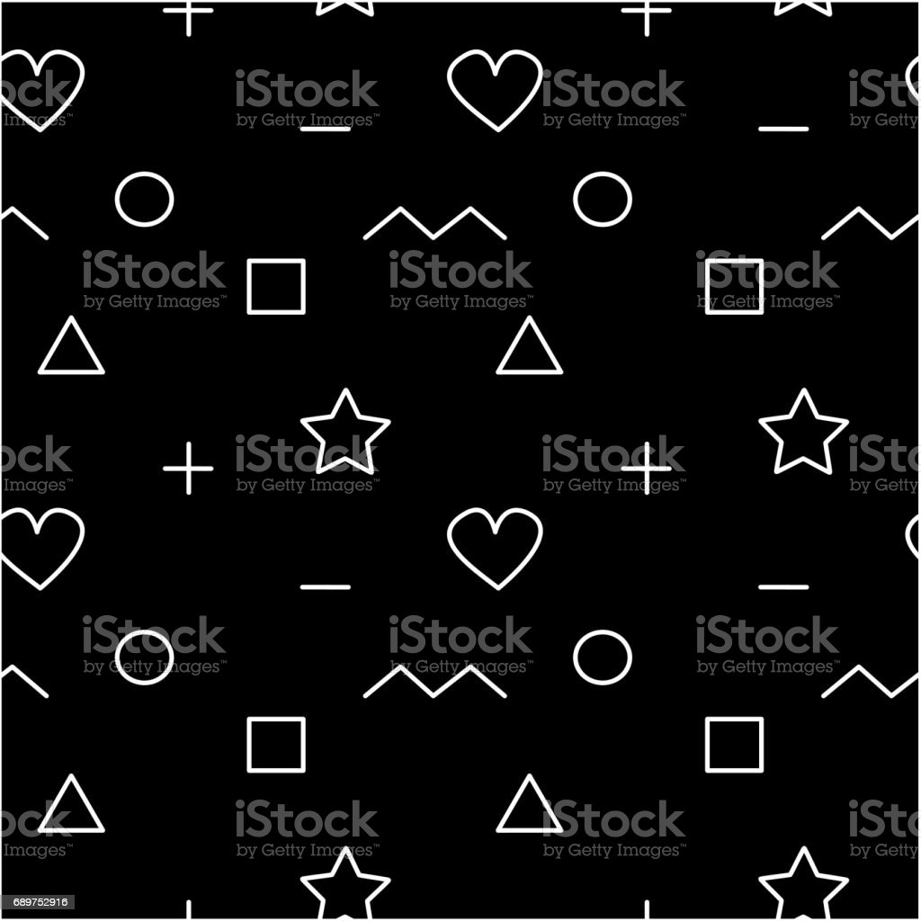 cute abstract geometric seamless vector pattern background illustration vector art illustration