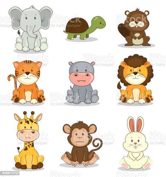 Cute adorable animal icon set vector id846874742?b=1&k=6&m=846874742&s=612x612&h= wn7fepxpc51g3xo3tqys20icqihdmwekzxaiwp5v1s=