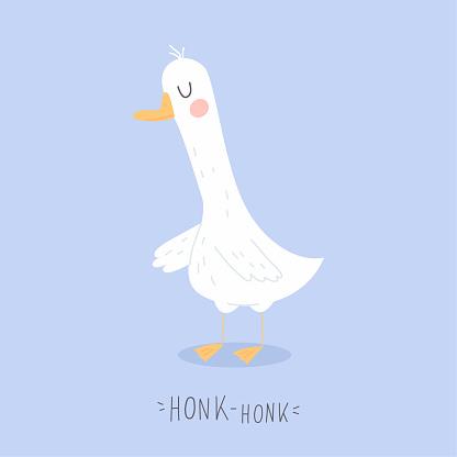 Cute adorable funny goose