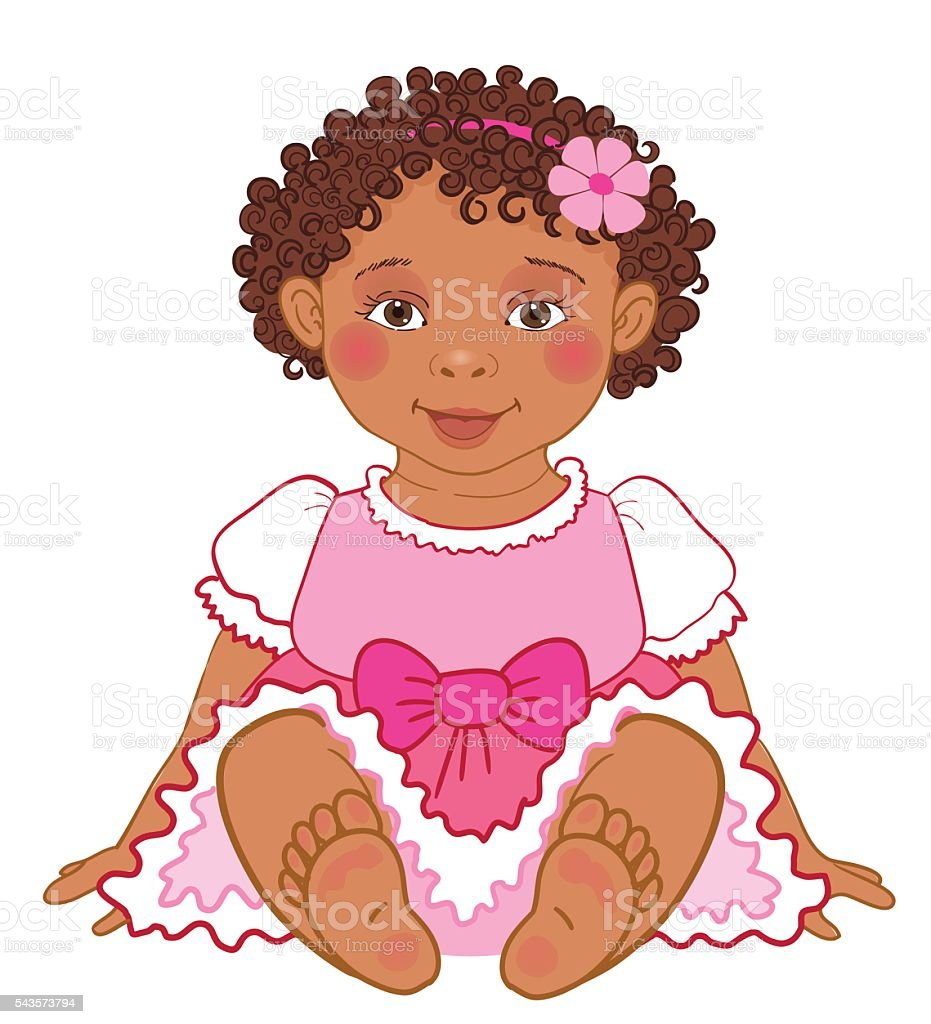 royalty free african american baby clip art vector images rh istockphoto com african american baby boy clipart african american baby boy clipart