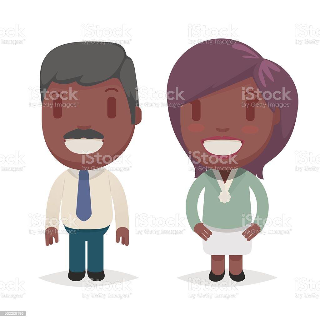 かわいいアフリカ系アメリカ人 のイラスト素材 532269190 | istock