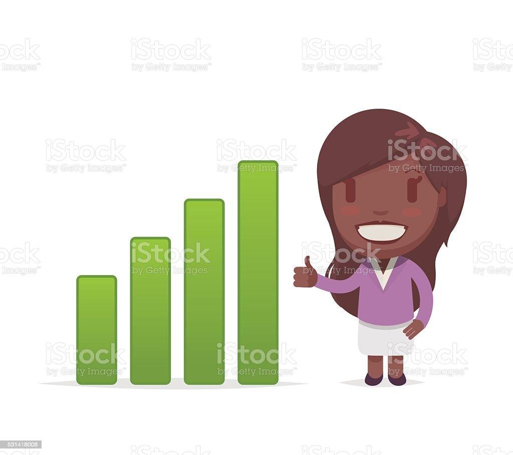 かわいいアフリカ系アメリカ人の女性 のイラスト素材 531418008 | istock