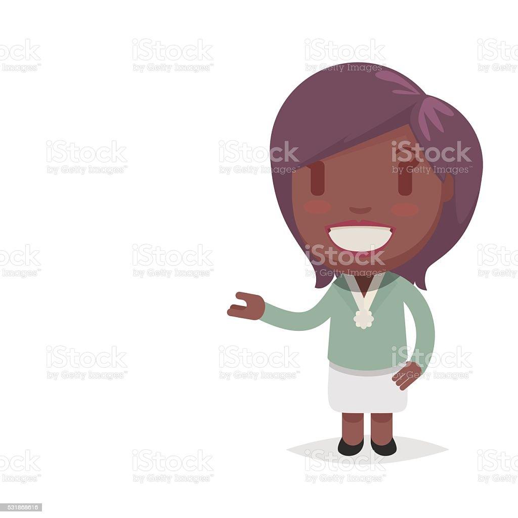 かわいいアフリカ系アメリカ人の女性 のイラスト素材 531868616 | istock